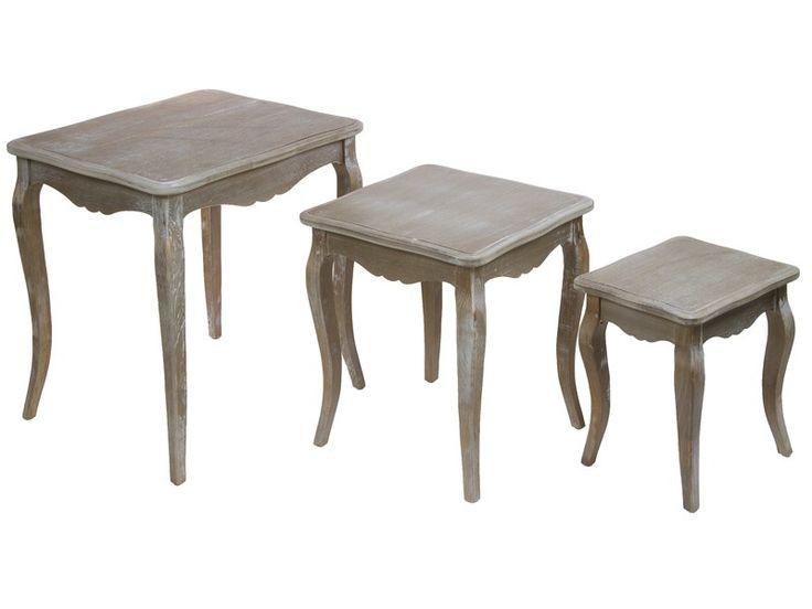 Juego 3 mesas nido Vintage