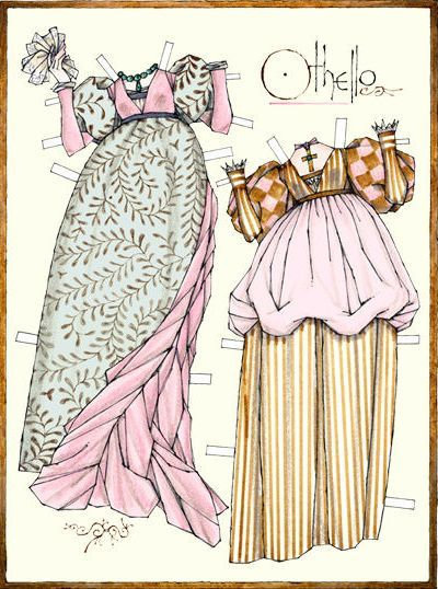 Clothing that was worn in that time period.. What some of Desdemona's dresses could've looked like.