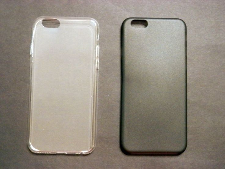 Lot Apple iPhone 6 Transparent Frosted Pastel Plastic Cases Clear & Black #UnbrandedGeneric