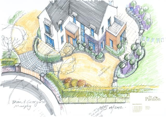 Front garden design proposals to new dwelling in Abbeyview, Carrigaline, Co.Cork by Hugodesign