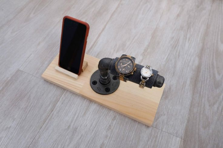 industrial watch and phone holder - basic by kimberlyjyDesigns on Etsy https://www.etsy.com/ca/listing/541845678/industrial-watch-and-phone-holder-basic