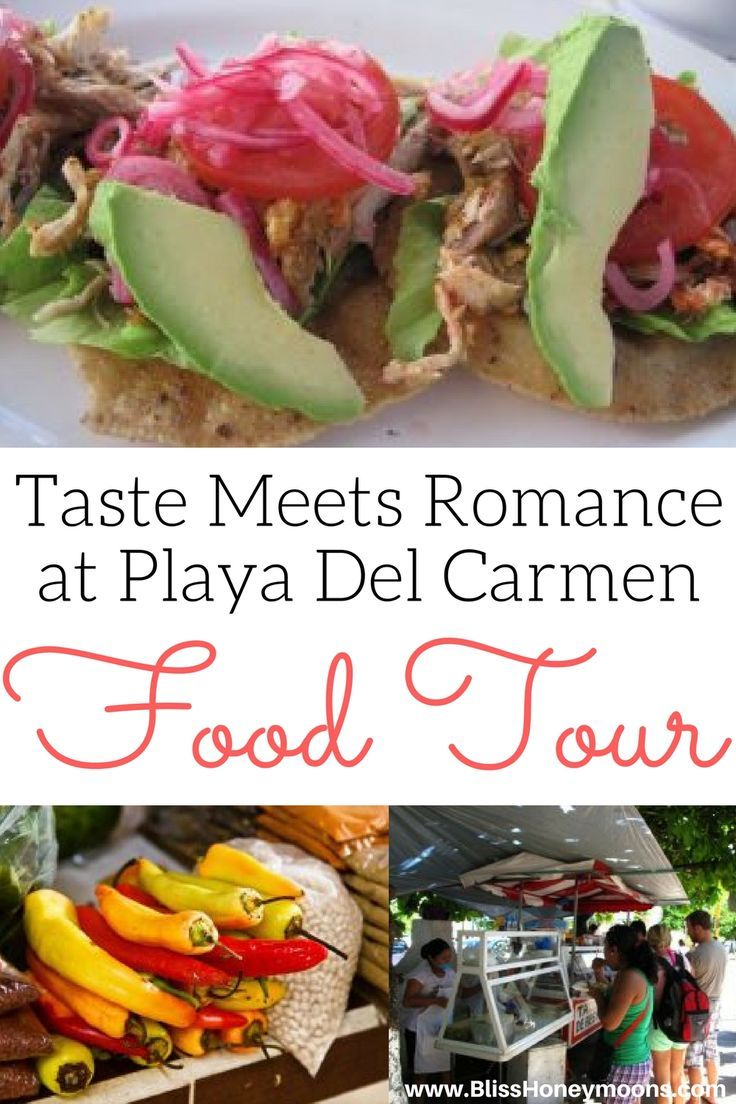 Yummmm, this is the ideal food tour for fiancées, destination honeymooners, and all of us who want a little romance with a side of amazing food. Playa Del Carmen's food tour is a must. Taste does indeed meet romance here. Awesome find by the destination wedding travel agents and pros at Bliss Honeymoons.