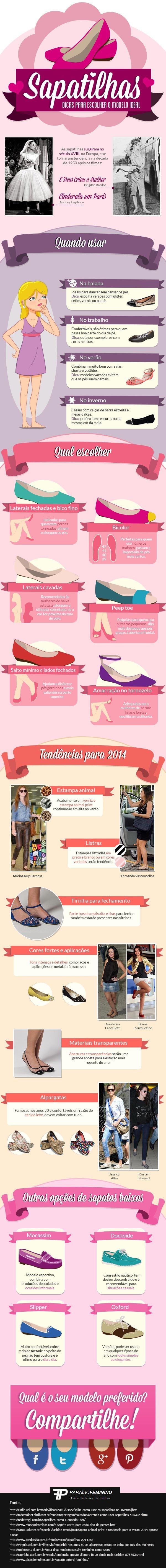 Infográfico de Sapatilhas - Dicas para escolher o modelo ideal | http://www.blogdocasamento.com.br