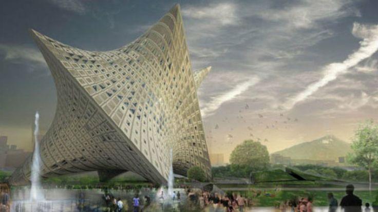 Najbardziej psychodeliczny budynek muzeum stanie w Tajpej