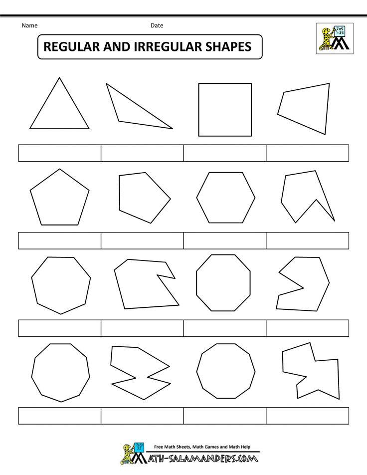 printable shapes regular and irregular shapes bw 1 000 1 294 pixels polygons pinterest. Black Bedroom Furniture Sets. Home Design Ideas