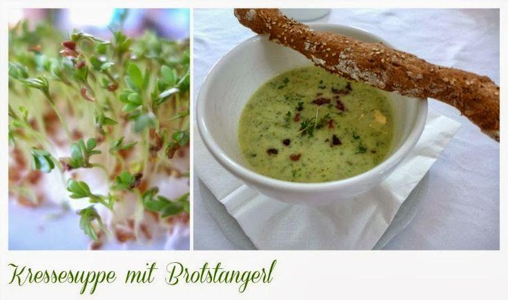 Kressesuppe mit Brotstangerl - Krimserei