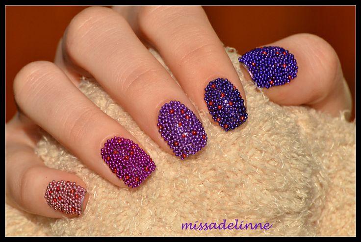 MissAdelinne: Ombrè & Caviar Nails: Hair Beautiful, Heart Nails, Nails Art, Gradient Caviar, Fashionpin Org, Fabulous Nails, Beautiful Nails, Nails A Bit, Caviar Nails A