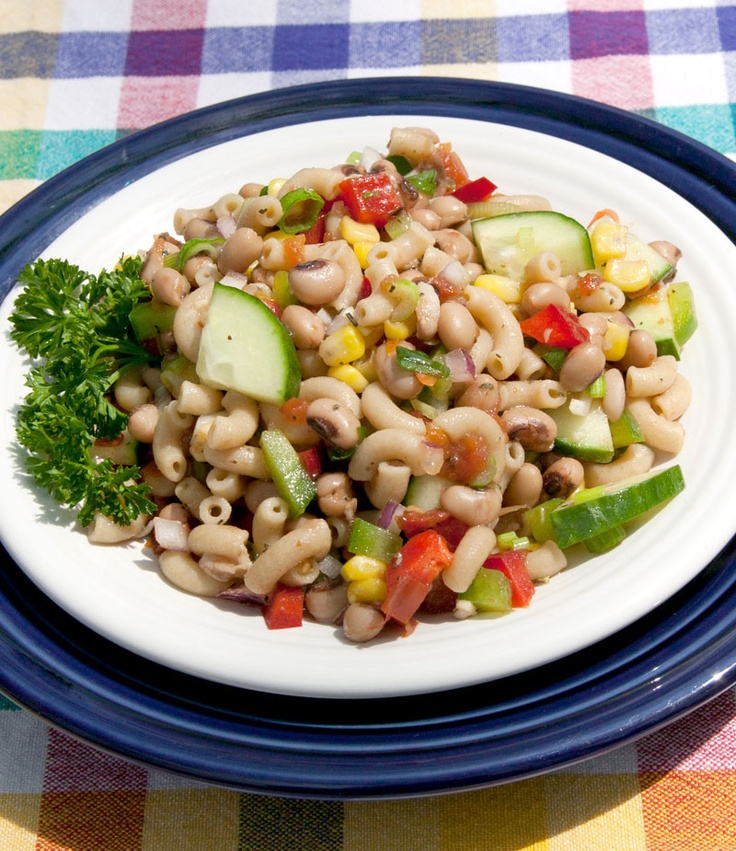 Black Eyed Pea Kamut Elbow Pasta Salad