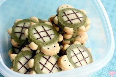 TURTLES <3Turtle Cookies, Turtles Cookies, Sugar Cookies, Icebox Cookies, Sweets Treats, Cookies Recipe, Cool Ideas, Delta Zeta, Turtles Icebox