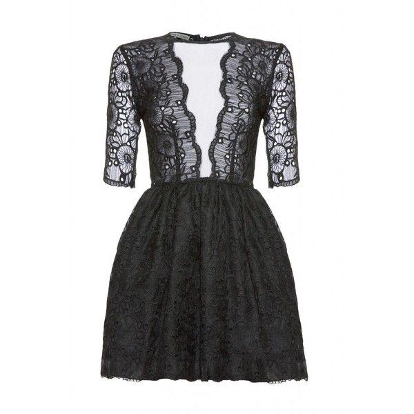 Belle Black Floral Lace Dress - Jones and Jones Dresses