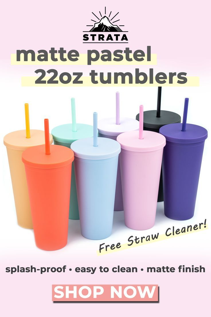 22oz Colored Acrylic Reusable Cups With