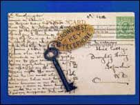"""A tiny key that might have helped prevent the Belfast-built Titanic sinking has fetched £90,000 at auction.  The key, with the tag """"Crows Nest Telephone Titanic"""" opened the binoculars store, but was not on the ship when it sailed from Southampton.    It was in the pocket of an officer transferred off the vessel days before its maiden voyage. He forgot to hand it to his replacement as he left.    As a result lookouts had to rely on the naked eye."""