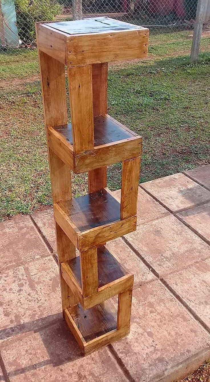 How did you find this unique creation of wood pallet? Isn't it clever looking in appearance? This creation is somehow taken as the medium of the shelving stand or often the planter stand as well to make it as a beautiful part of your garden area.