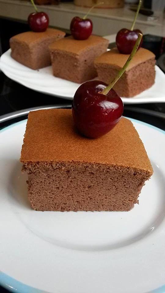 Baking's Corner: Japanese cocoa cotton cheesecake - by Kim Heahsk