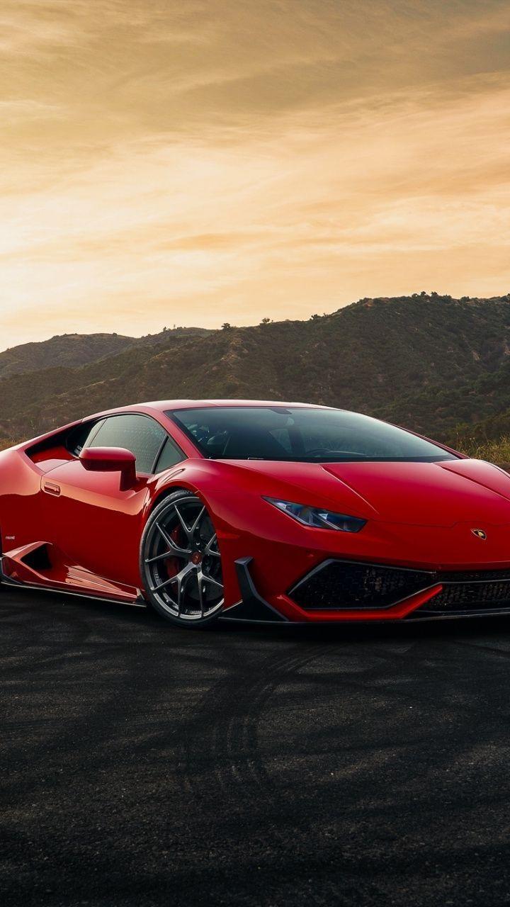 720x1280 Lamborghini Huracan Red Sportcar Wallpaper Red