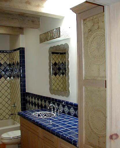 924 best old santa fe style images on pinterest new for Santa fe style bathroom ideas