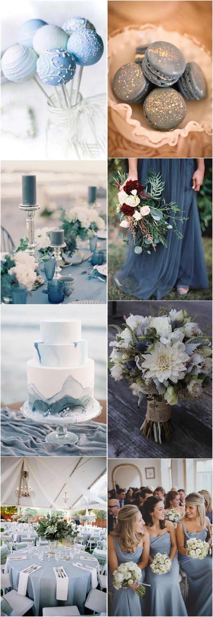 2019 Wedding Inspiration: Dusty Blue Wedding Color Ideas – Suzy Schettler