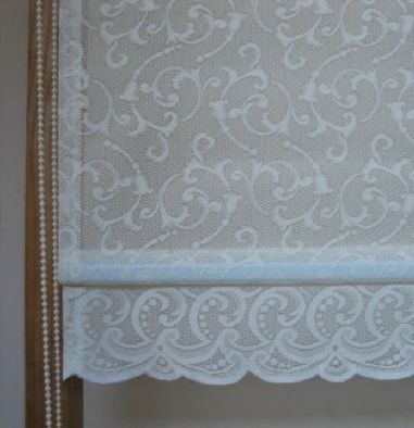lace shades for windows | Scroll base - Atrium lace