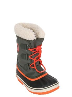 sorel - kids-boys - boots - waterproof nylon canvas boots