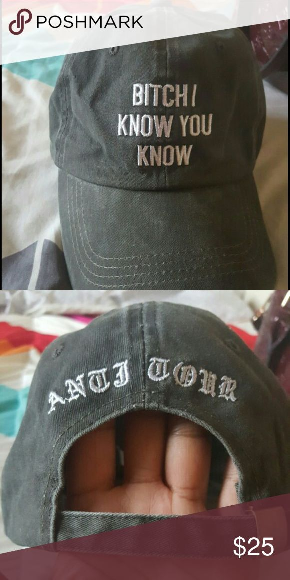Anti Tour Rihanna I Know You Hat Brand new hat Accessories Hats