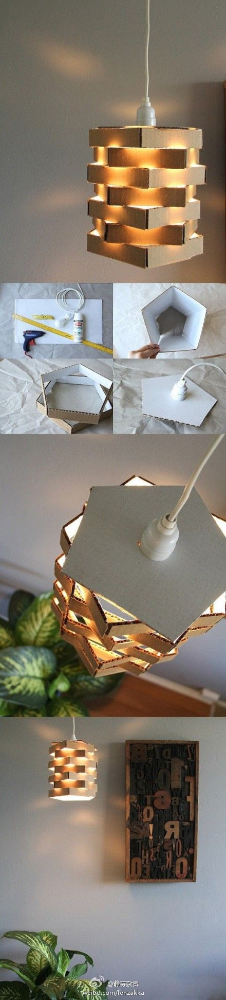 #diy, diy home, diy home decorating on a budget, lamp, carton, luminaire, abat jour