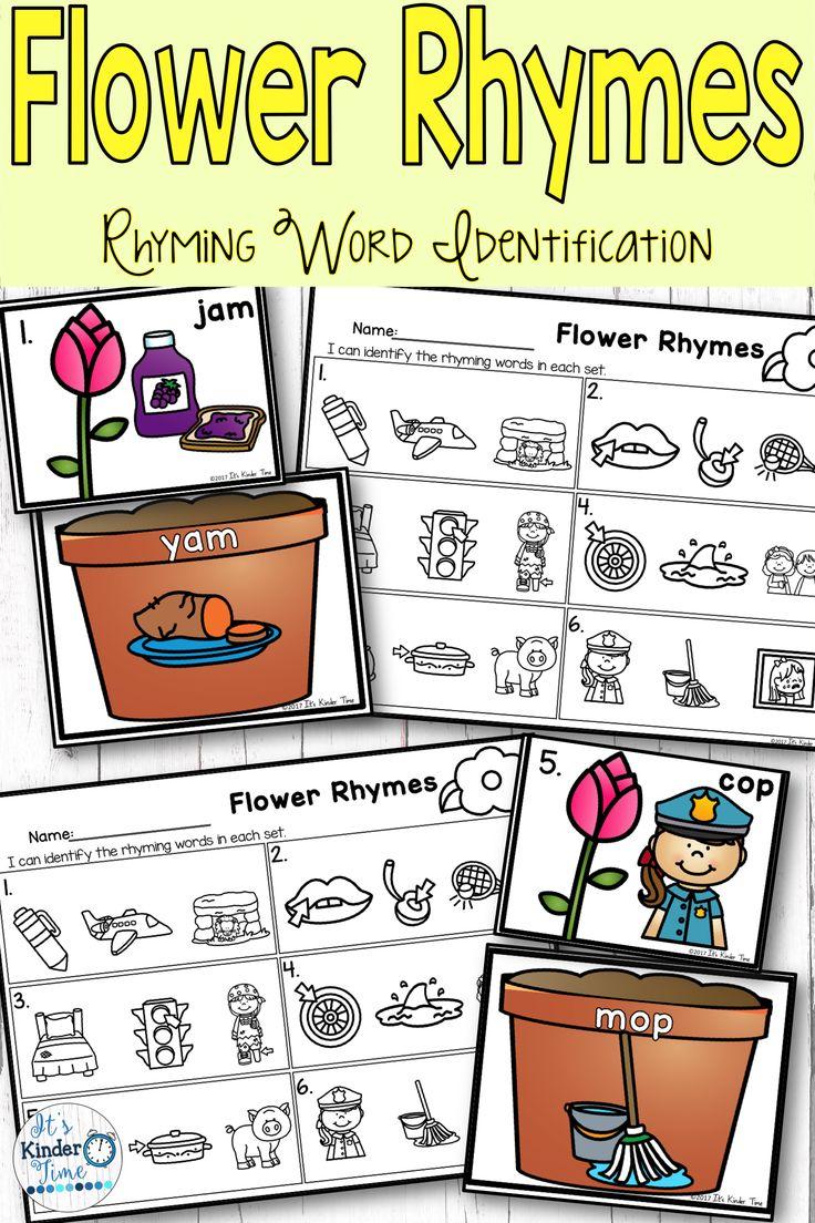 Flower Rhymes Rhyming Word Identification Rhyming