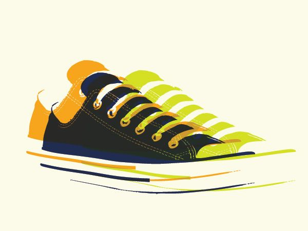 Pop Art Sneakers Vector Graphic All graphics in the Free Vector Graphics  section come in . You will need a vector editing program to open this file  (such as ...