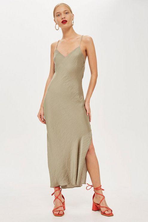 9d594acb4c10 PETITE Plain Satin Slip Dress in 2019   Products   Satin slip ...