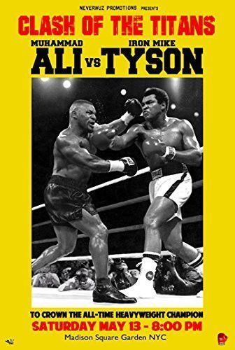 ALI vs TYSON POSTER Muhammad Ali and Mike Tyson Fight RARE HOT NEW 24x36