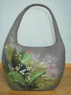 another beautiful bag - all done with wet felting.