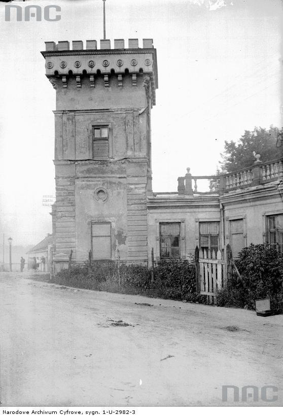 Fragment Pałacu Lasockich z zewnątrz.przy ul.Tynieckiej.Rok 1928