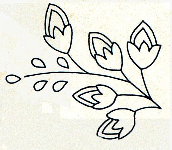 Genuine Vintage 1950s 'Flowers & Sprigs' X4 by TheAtticofKitsch
