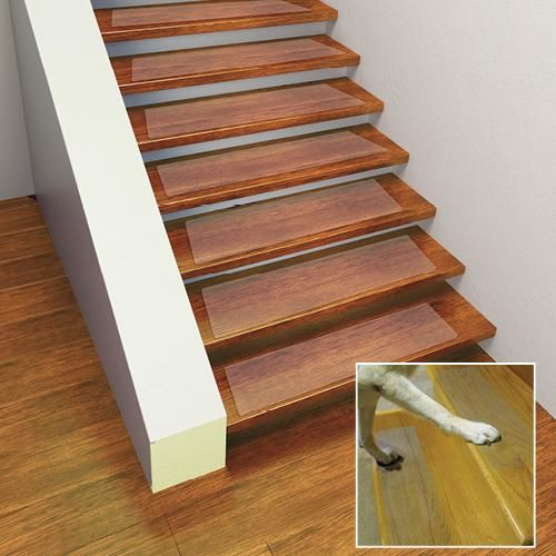 SOFT NON SLIP CLEAR STAIR TREAD SET OF 4 | Taylor Gifts