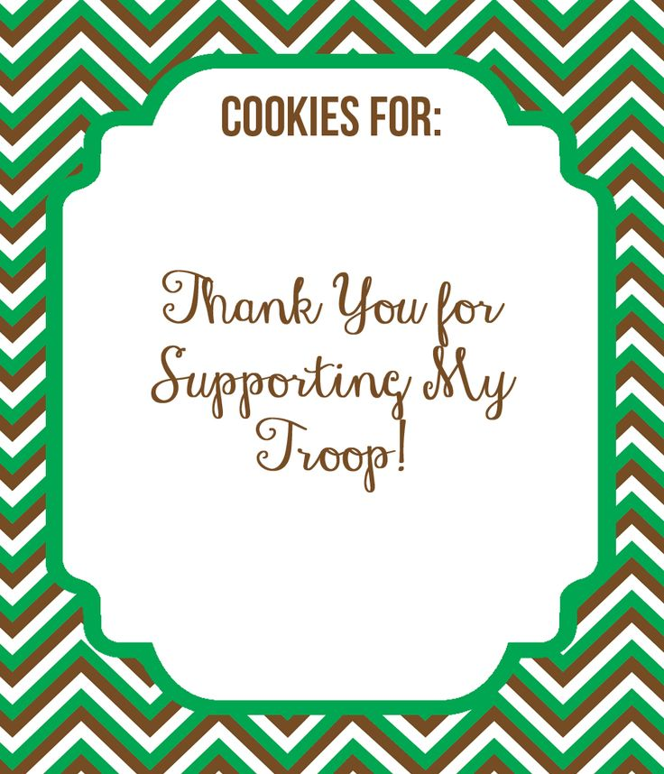 Free} Girl Scout Cookie Delivery Tags | DIY Modern Hostess