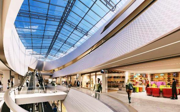 nouveau centre commercial Saint-Sébastien intérieur Nancy