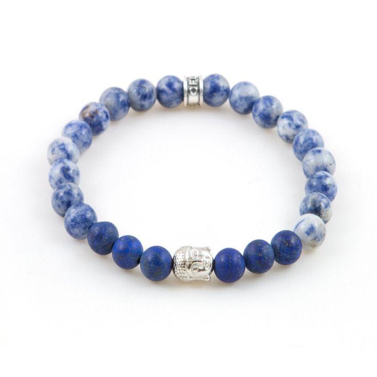 Men's Lapis Buddha Bracelet