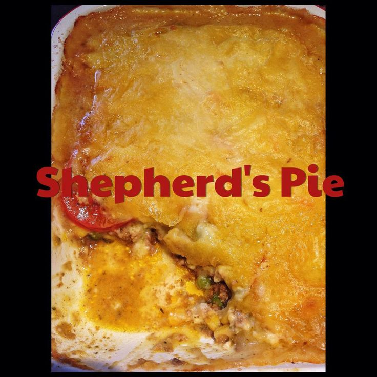 This is a Shepherd's Pie recipe, made from lamb... if you make it with beef it is called a Cottage Pie. Most people are unaware of this fact and make Cottage Pie and call is Shepherd's Pie (little ...