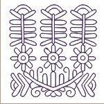 Kalotaszegi írottas - Hungarian folk pattern
