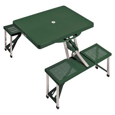 Portable Picnic Table And Seats   Green