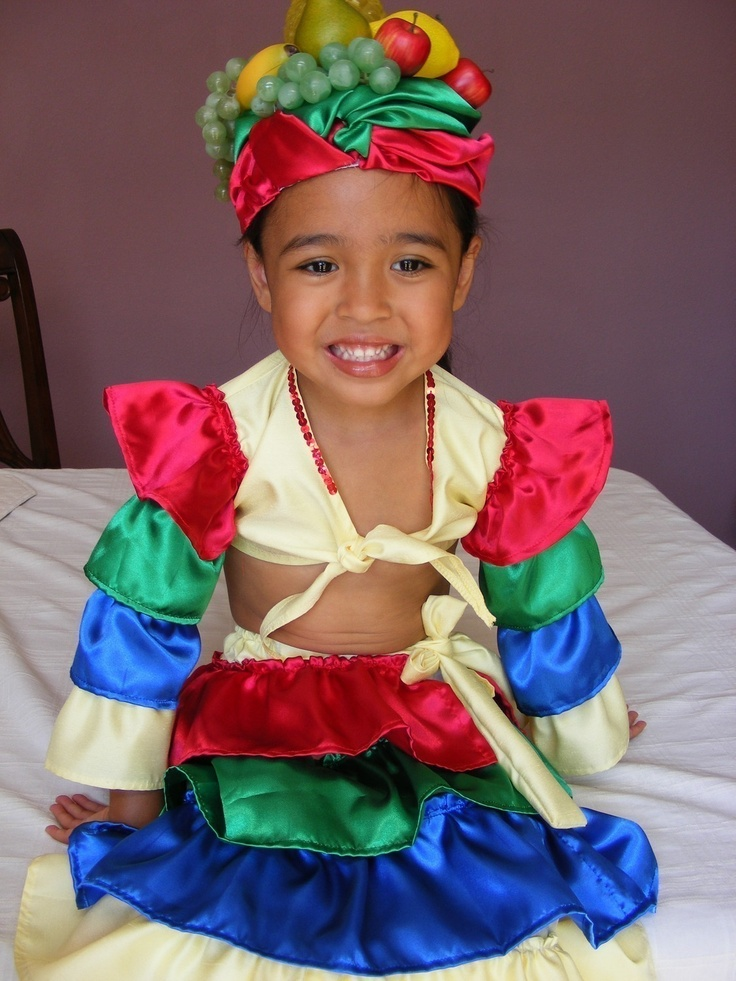 Unique chiquita banana carmen miranda halloween costume for Cool halloween costumes for kids girls