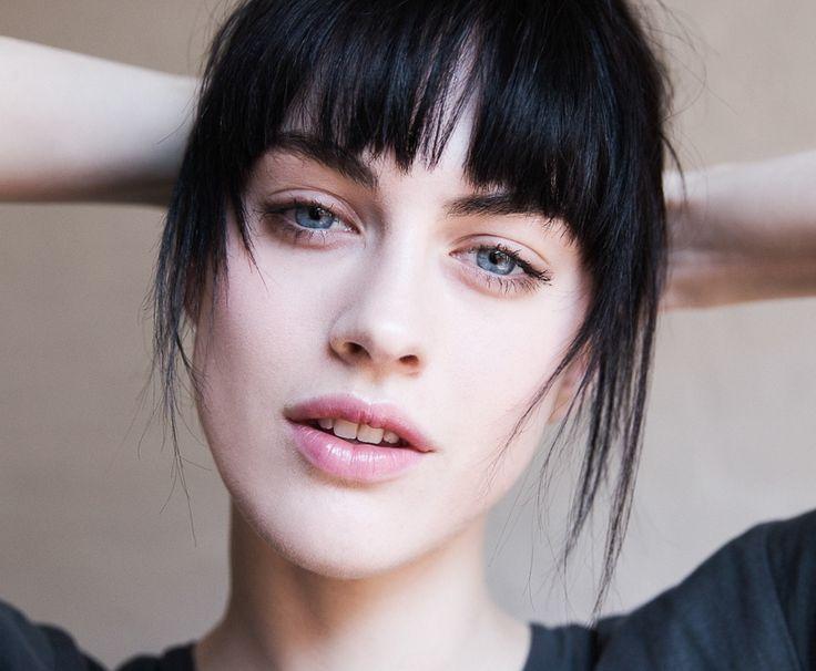Model Sarah Brannon and her blunt bangs