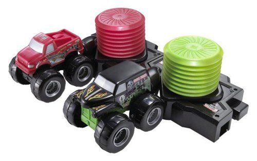 Hot Wheels Monster Jam Super Slammers Race & Crash The Destroyer vs Grave Digger by Mattel. $17.95. Fun for all ages. Ready, set, slam and launch two powerful trucks. Race side-by-side or head on for a high-speed duel. Fun Super Slammers racing action. Includes 2 vehicles. From the Manufacturer                Get ready for Super Slammers racing action with the Super Slammers assortment. Ready, set, slam and launch two powerful trucks side-by-side or head on for a high-speed du...
