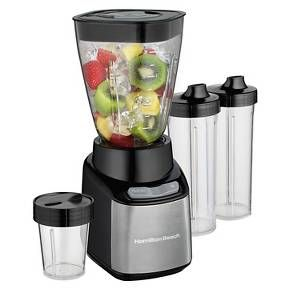 Hamilton Beach Stay or Go Blender - 52400 Combining the practicality of a full-size blender with the convenience of a single-serve, the Hamilton Beach Stay or Go Blender fit...