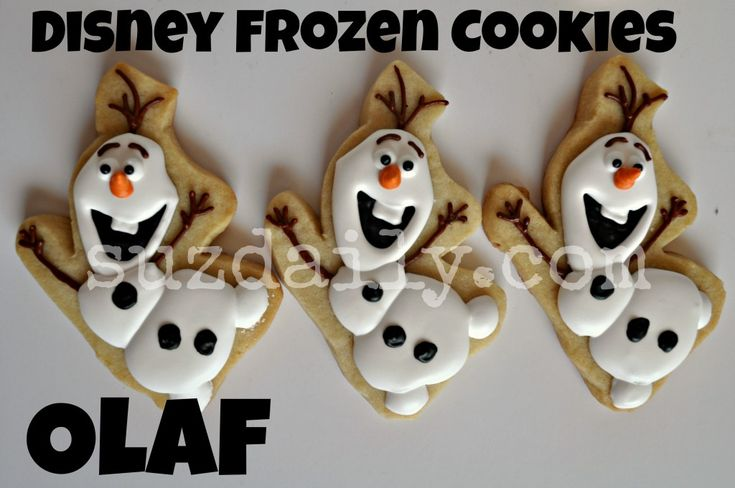 images of disney frozen cookies | How to Make Disney Frozen Cookies – How to Make Olaf Cookies | Suz ...