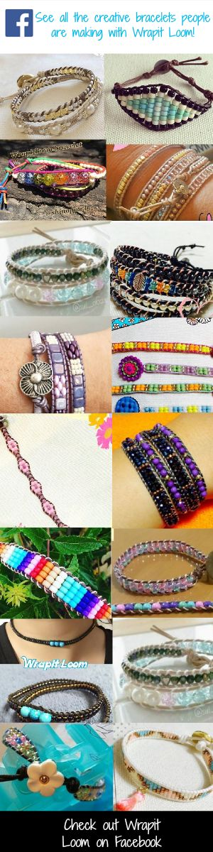 NEW!! Summer 2016 Bead bracelet making. Check out our Wrapit Loom Facebook page: https://www.facebook.com/Wrapitproloom/  And see all the amazing handmade bead bracelets people are making with the new Wrapit Loom. Bead Bracelets, Handmade Bracelets, Wrapit Loom, Friendship Bracelets, Handmade Jewelry, DIY Jewelry Making