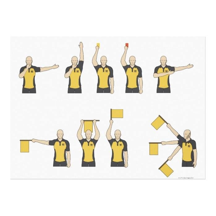 Customizable #30#39#Years #Adult #Adults#Only #Authority #Caucasian#Ethnicity #Color#Image #Control #Decisions #Digitally#Generated#Image #Flag #Front#View #Gesturing #Group#Of#People #Holding #Horizontal #Illustration#And #Illustration#Technique #Medium#Group#Of#People #Mid#Adult #Multiple#Image #Only#Men #Only#Mid#Adult#Men #Order #People #Point #Red #Referee #Shaved#Head #Soccer #Sport #Sports#Flag #Variation #Waist#Up #White#Background #Yellow Football referees' signals canvas print…