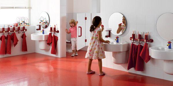 #Keramag #Bambini Awesome funky bathroom range for pre-schools