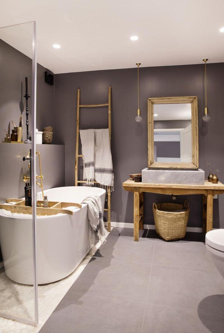 Bad, badekar, speil, stige