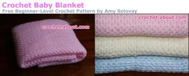 Easy #crochet pattern - baby blanket - Photo © Amy Solovay