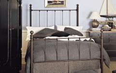 Brilliant Bedroom Design With Wrought Iron Bed